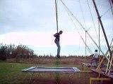 Acrobaties au trampoline