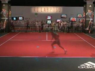 Je libère ma vitesse à Roland Garros vs Jo Tsonga