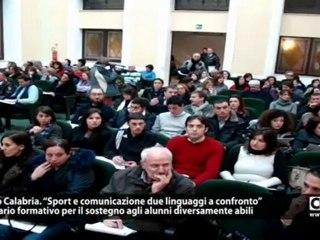 """Reggio Calabria. Seminario  """"Sport e comunicazione due linguaggi a confronto"""""""
