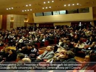 Amministrative 2011. Presentate a Reggio le candidature del centrodestra