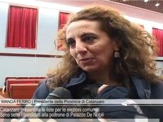 Catanzaro presentate le liste per le elezioni comunali