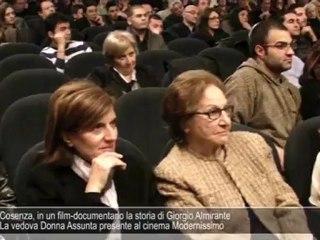 """""""Almirante l'Arcitaliano"""", documentario a Cosenza alla presenza di donna Assunta"""