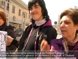 Centri per disabili, stamattina protesta in Prefettura a Crotone