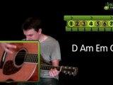 Apprendre à jouer l'étranger de Gérald de Palmas - guitare