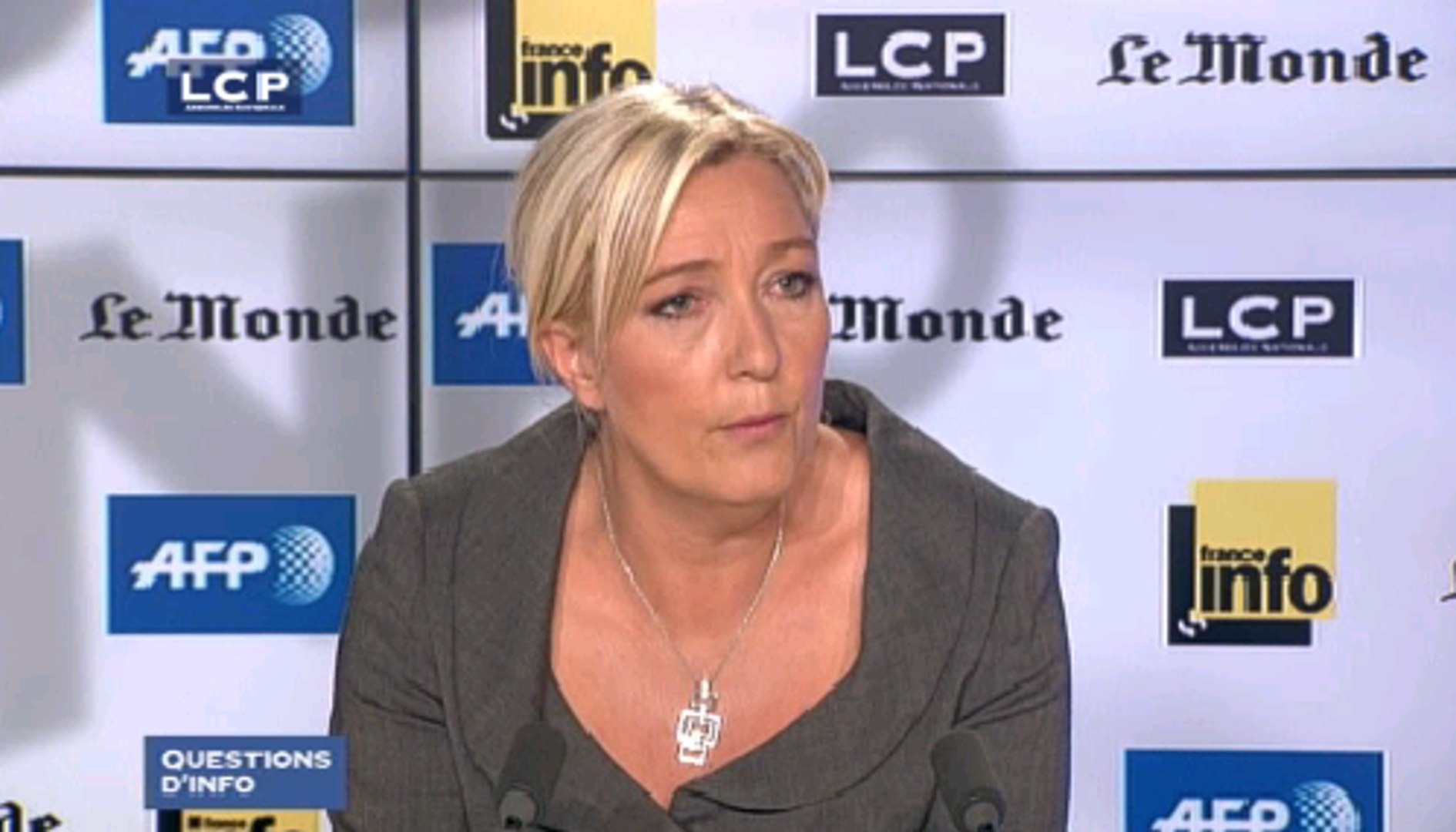 Questions d'info : Marine Le Pen, présidente du Front national