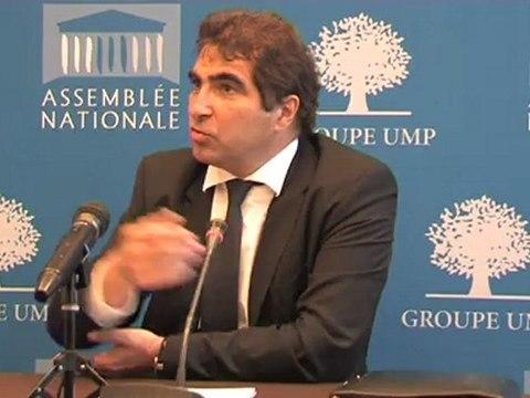 UMP - Conférence de presse de Christian Jacob - Les retraites, audition des ministres en commission des affaires sociales et finances publiques