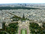 Relaxing View of the Champs Elysées in Paris, from the Eiffel Tower - Zenitude Experience