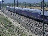 TGV Duplex (SNCF)entre Aix Tgv et Avignon Tgv sur la LGV Med