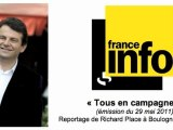Thierry Solère en campagne à Boulogne (reportage de France Info