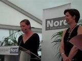 Sars-Poteries remerciements musée du verre pour acquisition robe de Karen LaMonte