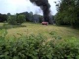 Beaurepaire fait divers incendie dans une pature