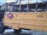 Incendio autobus escolar Estados Unidos