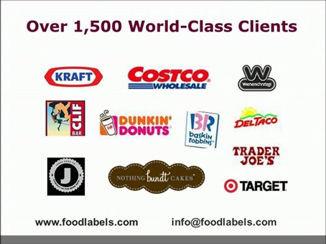 Nutritional Analysis, Food Labels, Nutrition Labels Company