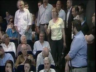 Παρέμβαση Πολωνής κτηνοτρόφου σε ομιλία του Ευ. Βενιζέλου στη Λιβαδειά