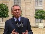 François Bayrou, réaction après son entretien avec François Hollande sur FranceTV - 040612