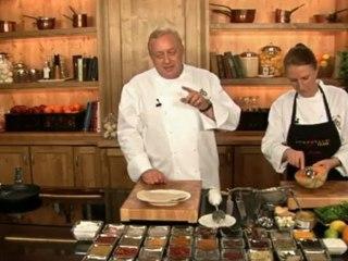 Alfons Schuhbeck kocht Entenbrust auf Blattsalat mit Melone auf www.321kochen.tv