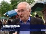 Jacques Cheminade venu soutenir la campagne de Johanna Clerc à Besançon - France3 Franche-Comptée
