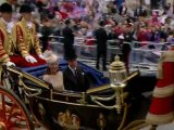 Royal procession: William, Harry and Kate join the Queen