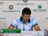 "Roland-Garros, 1/4 de finale : Del Potro : ""J'ai eu une occasion"""