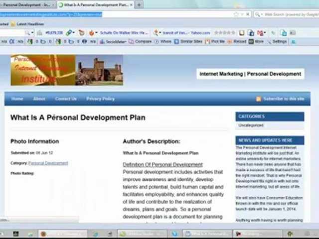 What Is A Personal Development Plan – New Website