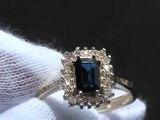 Vintage Sapphire 14k Yellow Gold Diamonds Ring