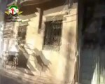 Syria فري برس مكان سقوط القذائف على منازل المدنيين في حي الخالدية بحمص واثار الخراب 9 6 2012 Homs