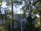 Syria فري برس  دمشق إطلاق نار كثيف وإستهداف منازل المدنيين بقذائف الأربيجي من قبل كتائب الأسد حمص حي الخالدية 9 6 2012 Damascus