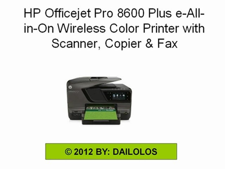 Copier & Fax HP Officejet Pro 8600 Plus e-All-in-One Wireless ...