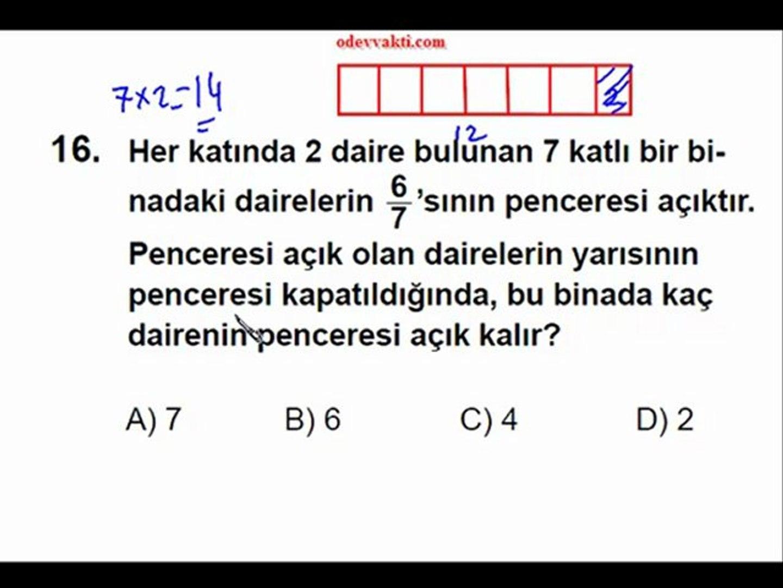5. Sınıf  2012 PYBS Matematik Soruları Çözümü (www.odevvakti.com)