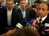 soirée Législatives 1er tour -arrivée de Jean-François COPÉ au siège de l'UMP