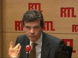 """Arnaud Montebourg, ministre PS du Redressement productif : """"Il va falloir faire du redressement productif sur les terrains de foot !"""""""