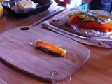 Charles Soussin au Salon du blog Culinaire - Brochette-club aux carottes, courgettes, céleri