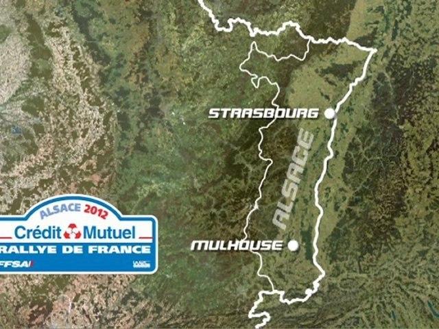 WRC - Rallye de France-Alsace 2012 - Le parcours en 3D