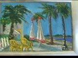 Les peintures de Robert Fouque et les sculptures de Georges Viotti exposées à la villa Khariessa à Martigues