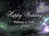 結婚式 プロフィールビデオ オープニング 星