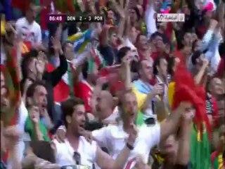 الهدف الثالث للبرتغال أمام الدنمارك