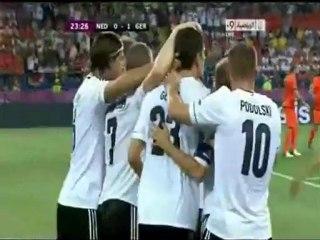 الهدف الاول لالمانيا أمام هولندا