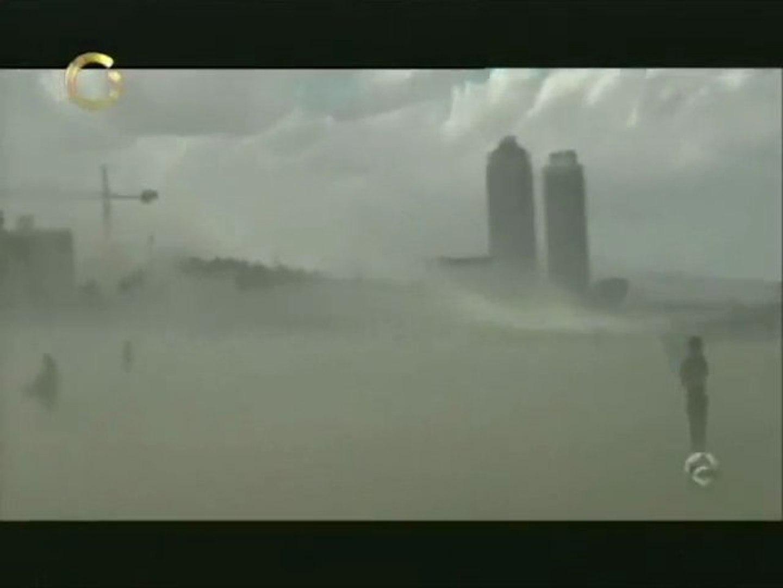 Sorprendente tormenta de arena en Barcelona, España