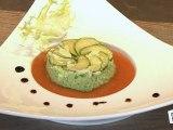 Cuisine : Flan de courgettes au coulis de tomates