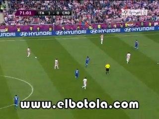 هدف كرواتيا الأول ضد إيطاليا