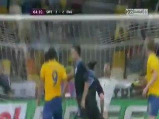 الهدف الثاني لانجلترا أمام السويد