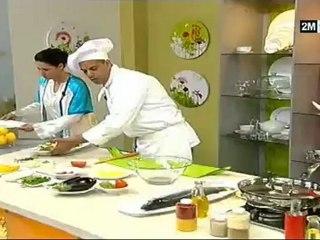 recette video choumicha cuisine saumon farcie au légumes