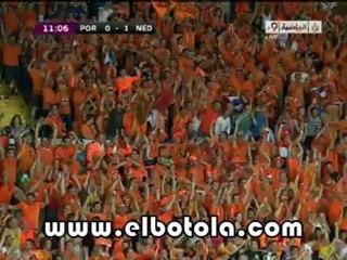 هدف هولندا الأول ضد البرتغال