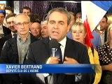 Xavier Bertrand réélu de justesse député de l'Aisne