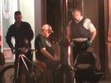 Police with male bleeding on Main Street