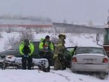 Single Vehicle Accident Snowing TRANS Canada Highway, Magnetic Hill Moncton