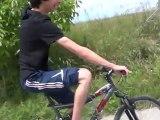 Pti tour en vélo et pti trot avec Saku