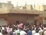 Syria فري برس درعا إنخل مظاهرة صباحية تضامنا مع المدن المنكوبة 19 6 2012 ج2 Daraa