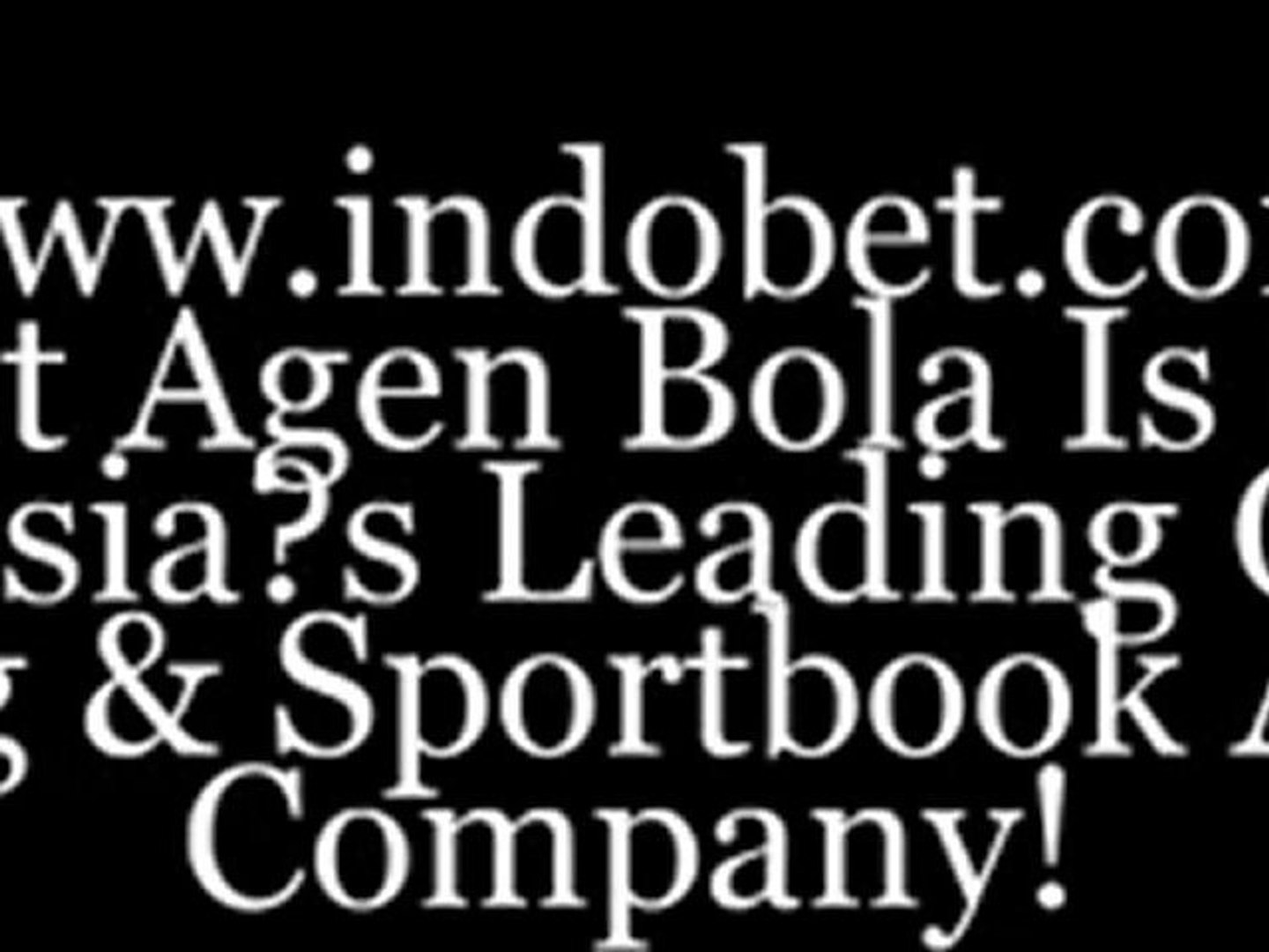 Indonesia's Leading O­nline Gaming & Sportbook Company! Indobet Agen Bola Best Betting Onli