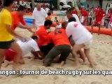 Langon: beach rugby sur les quais